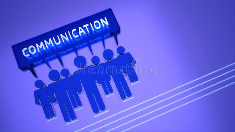 Begreppsmässigt tema för kommunikation 3D arkivbild