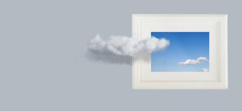 Begreppsm?ssig bild av himmelmoln fotografering för bildbyråer