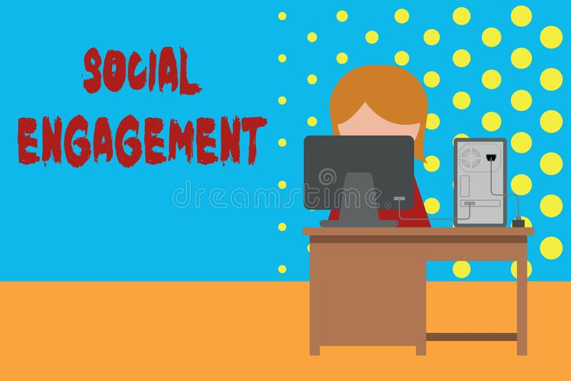 Begreppsm?ssig handhandstil som visar social koppling Affärsfoto som ställer ut grad av kopplingen i en online-gemenskap royaltyfri illustrationer