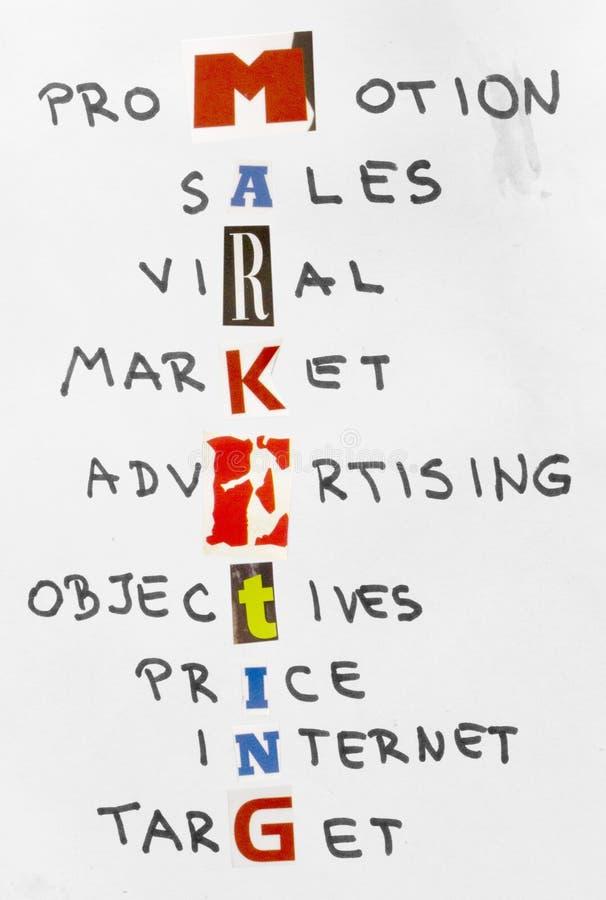 begreppsmarknadsföringssuccesfull arkivfoton