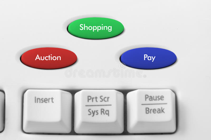 begreppsonline-shopping arkivfoton