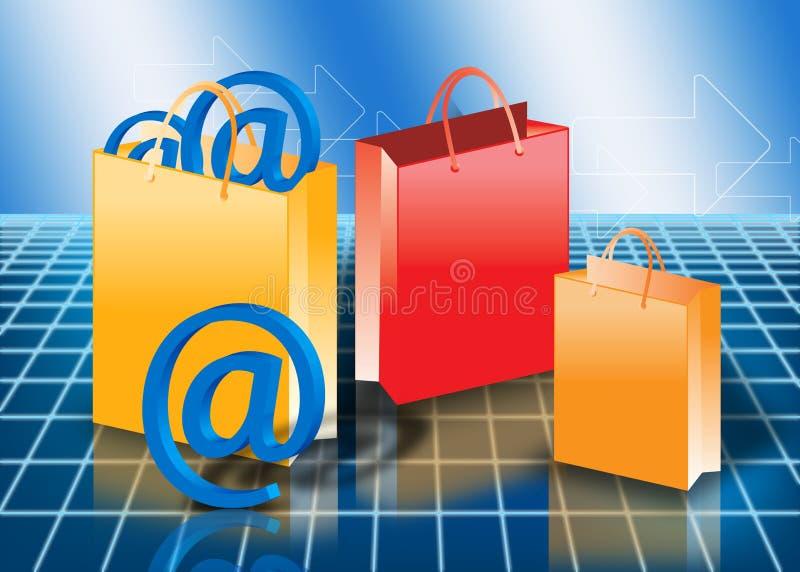 begreppsonline-shopping stock illustrationer