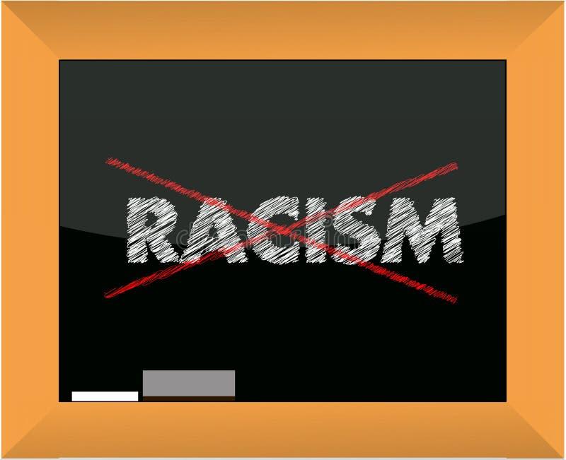 Begriffliche Kreidezeichnung - kein Rassismus lizenzfreie abbildung