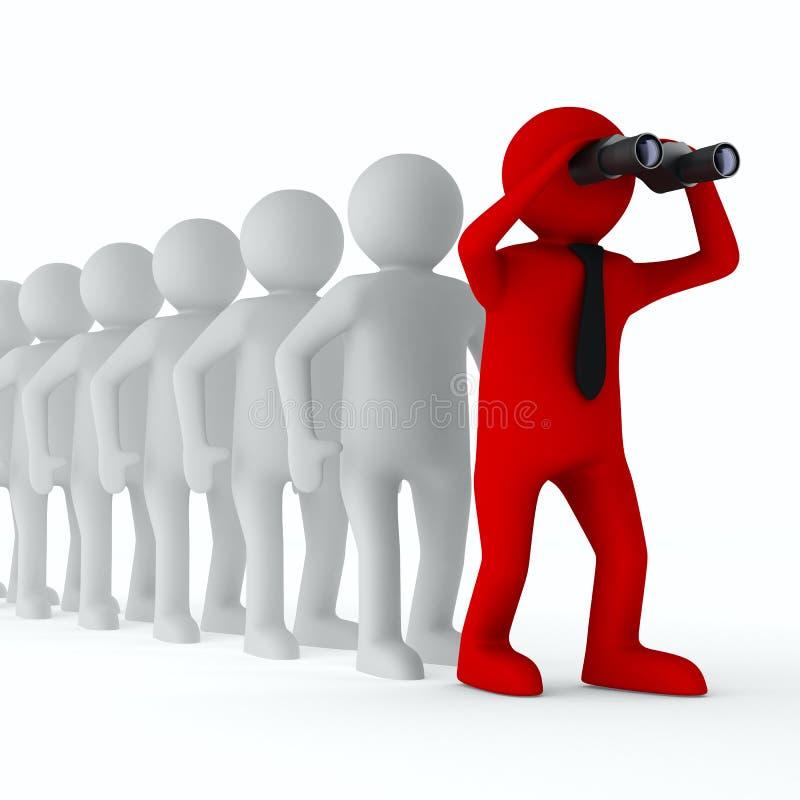 Begriffsbild der Führung stock abbildung