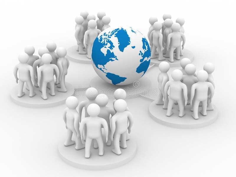Begriffsbild der Teamwork lizenzfreie abbildung