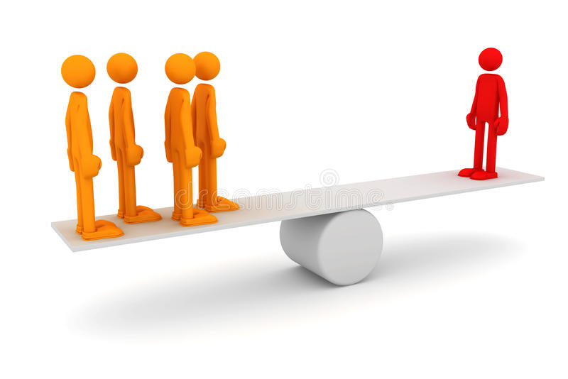 Begriffsbild der Teamwork stock abbildung