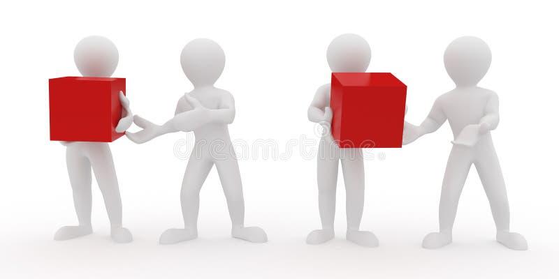 Begriffsbild der Teamwork. 3d stock abbildung