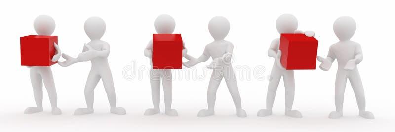 Begriffsbild der Teamwork. 3d vektor abbildung