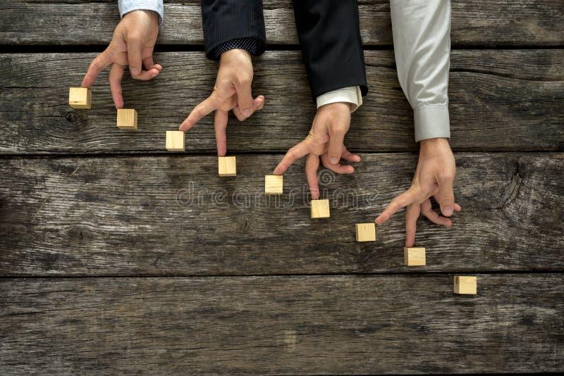 Begriffsbild der Teamwork und der Zusammenarbeit lizenzfreie stockbilder
