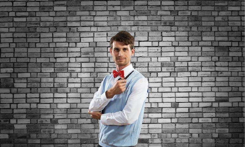 Begriffsbild des jungen Geschäftsmannes lizenzfreie stockbilder
