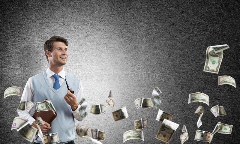 Begriffsbild des jungen Geschäftsmannes lizenzfreies stockbild