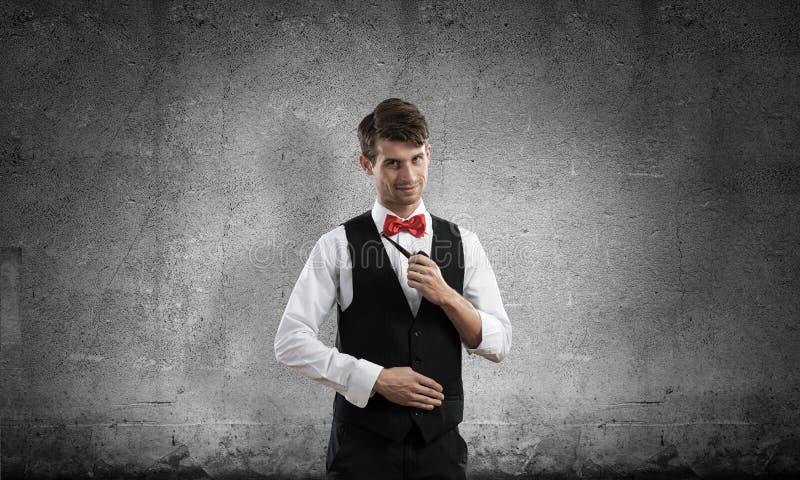 Begriffsbild des jungen Geschäftsmannes stockfotografie