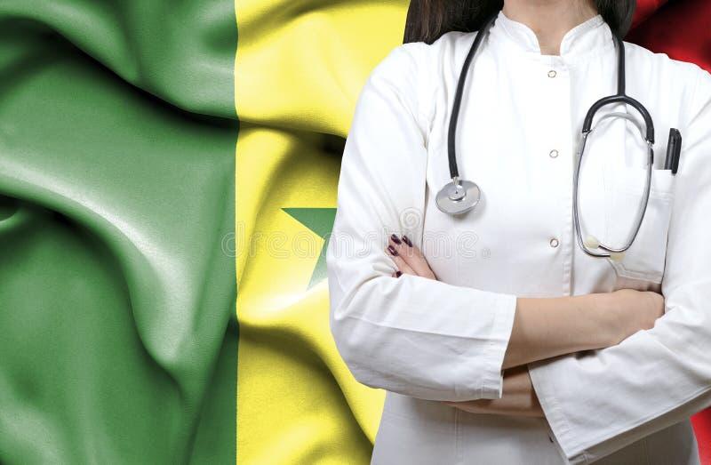 Begriffsbild des nationalen Gesundheitssystems in Senegal lizenzfreie stockbilder
