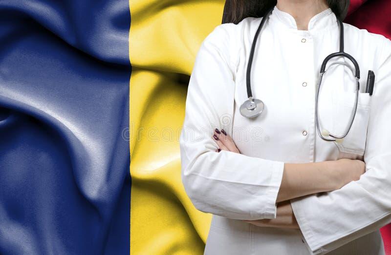 Begriffsbild des nationalen Gesundheitssystems in Tschad lizenzfreie stockfotografie