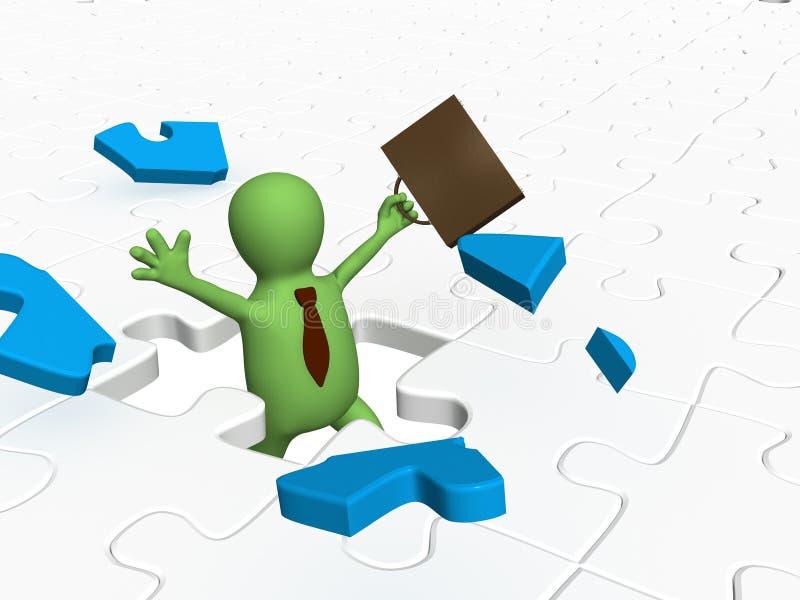Begriffsbild - Erfolg im Geschäft lizenzfreie abbildung