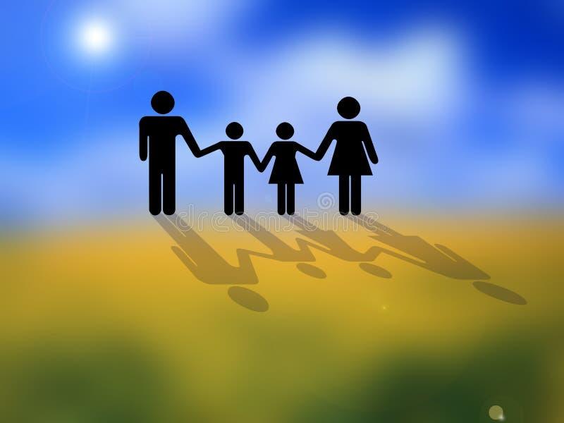 Begriffsfamilienbild stockfoto