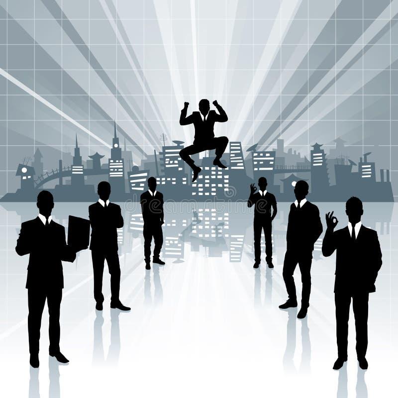 Begriffsgeschäfts-Hintergrund lizenzfreie abbildung