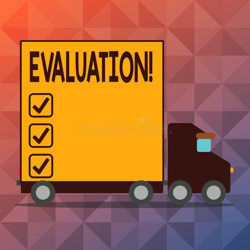 Begriffshandschrift, die Bewertung zeigt Geschäftsfototext Urteil-Feedback werten das Qualität perforanalysisce aus lizenzfreie abbildung
