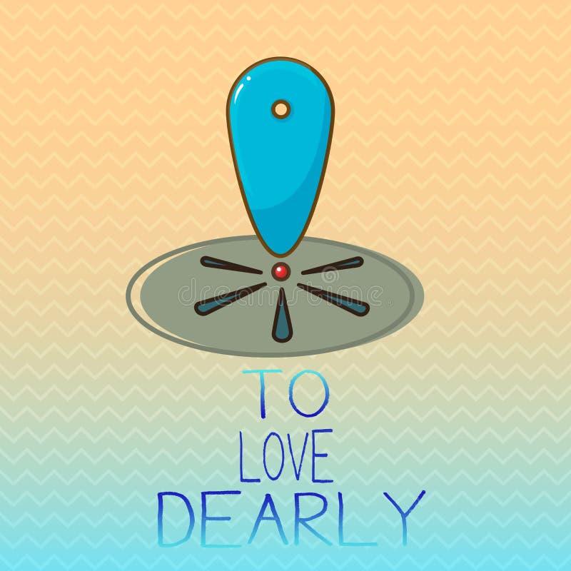 Begriffshandschrift, die darstellt, um lieb zu lieben Geschäftsfoto Präsentationsliebe jemand sehr viel in der bescheideneren Wei vektor abbildung