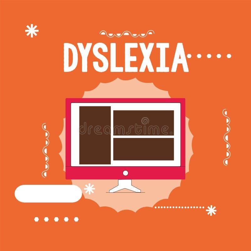 Begriffshandschrift, die Dyslexie zeigt Geschäftsfoto Präsentationsstörungen, die Schwierigkeit im Lernen zu lesen und in impr mi vektor abbildung