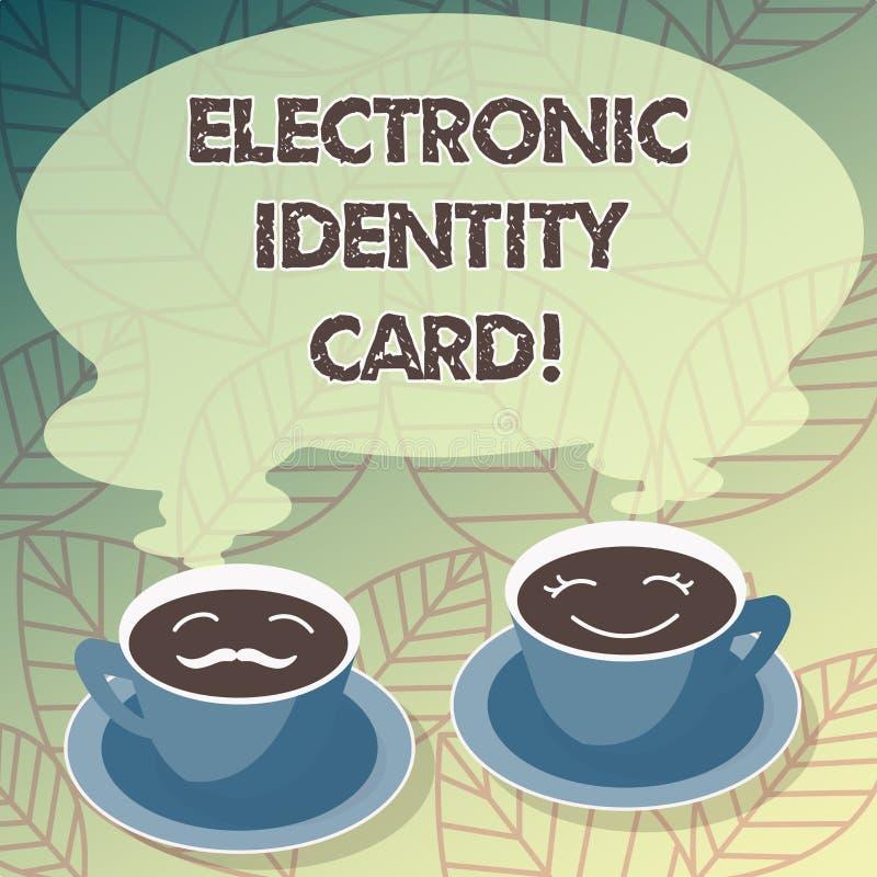Begriffshandschrift, die elektronischen Personalausweis zeigt Digitale Lösung des Geschäftsfoto-Textes für Beweis der Identität d vektor abbildung