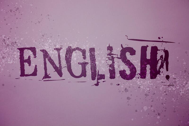 Begriffshandschrift, die englischen Motivanruf zeigt Geschäftsfototext bezüglich England seine Leute oder ihre Sprachidentifikati vektor abbildung