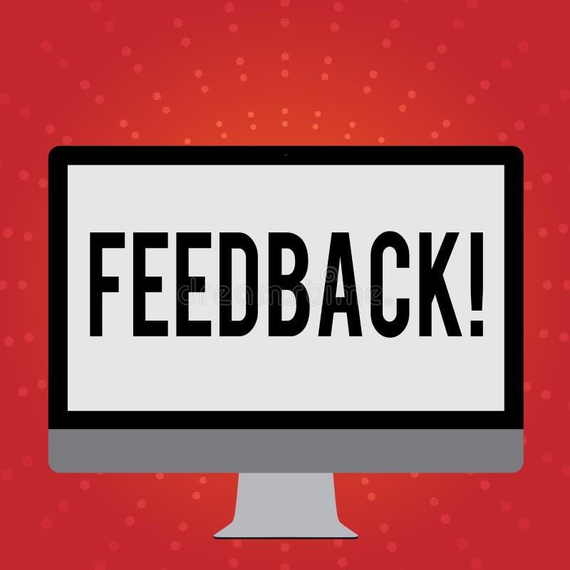Begriffshandschrift, die Feedback zeigt Geschäftsfoto geben Präsentationskunden-Bericht-Meinungs-Reaktions-Bewertung stock abbildung