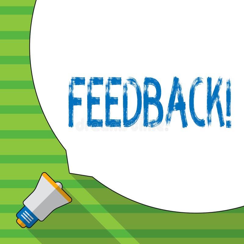 Begriffshandschrift, die Feedback zeigt Geschäftsfoto Präsentationsbewertung ein wirtschaftlicher lokaler Gemischtwarenladen lizenzfreie abbildung