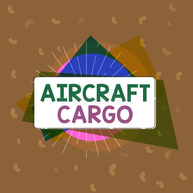 Begriffshandschrift, die Flugzeug-Fracht zeigt Geschäftsfototext Transportunternehmen-Luftpost-Transportwaren durch Flugzeug vektor abbildung