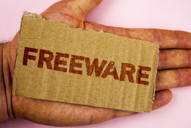 Begriffshandschrift, die Freeware zeigt Geschäftsfoto Präsentationssoftware-Anwendung, die für Gebrauch an nicht Währungs verfügb stockbilder