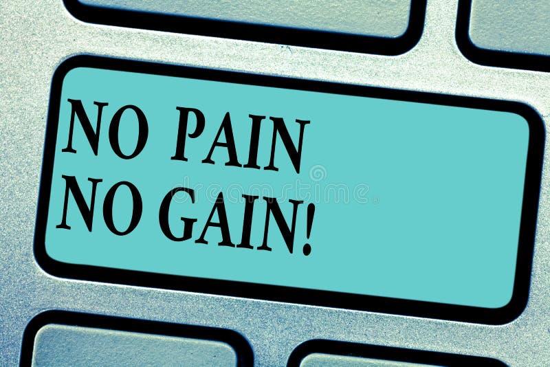 Begriffshandschrift, die keinen Schmerz keinen Gewinn zeigt Das Geschäftsfoto, das allen Erfolg zur Schau stellt, erfordert die M vektor abbildung