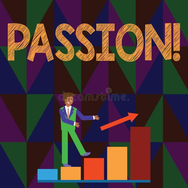 Begriffshandschrift, die Leidenschaft zeigt Starkes Gefühl des starken und unkontrollierbaren Gefühls des Geschäftsfototextes sex stock abbildung