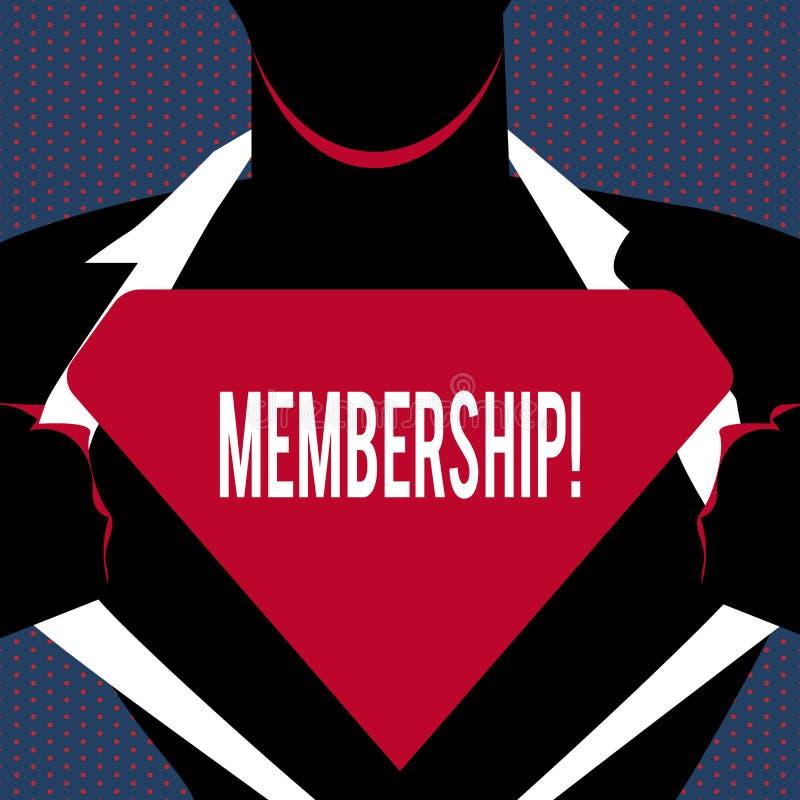 Begriffshandschrift, die Mitgliedschaft zeigt Der Geschäftsfototext, der Mitgliedsteil einer Gruppe oder Team ist, schließen sich vektor abbildung