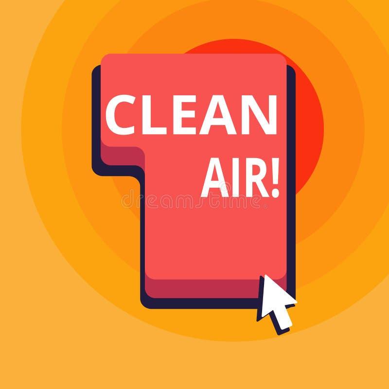 Begriffshandschrift, die reine Luft zeigt Geschäftsfototext, der in bestimmten Bereichen brennen irgendeinen Brennstoff das verbi stock abbildung