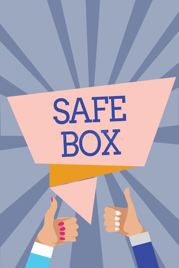 Begriffshandschrift, die sicheren Kasten zeigt Kleine Struktur des Geschäftsfoto-Textes A, wo Sie die wichtigen oder wertvollen S stock abbildung