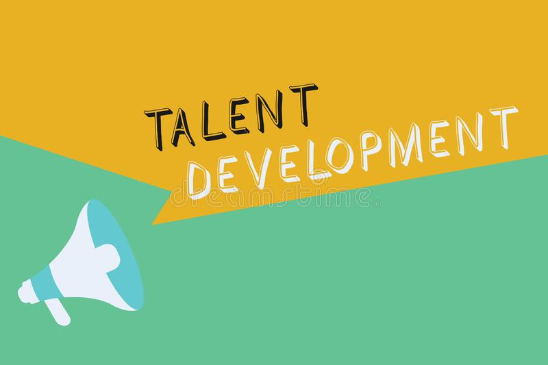 Begriffshandschrift, die Talent-Entwicklung zeigt Geschäftsfoto Präsentationsgebäude-Fähigkeits-Fähigkeits-Verbessern vektor abbildung
