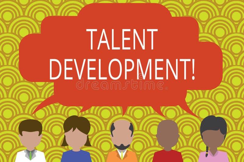 Begriffshandschrift, die Talent-Entwicklung zeigt Gesch?ftsfototext errichtende F?higkeits-F?higkeiten, die Potenzial verbessern stock abbildung