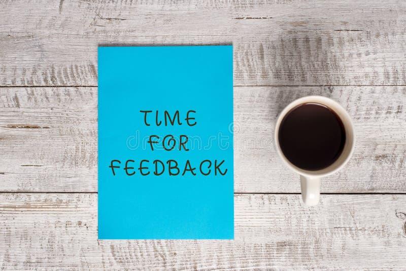Begriffshandschrift, die Zeit f?r Feedback zeigt Geschäftsfoto-Textinformationen über Reaktionen auf ein Produkt oder lizenzfreie stockbilder