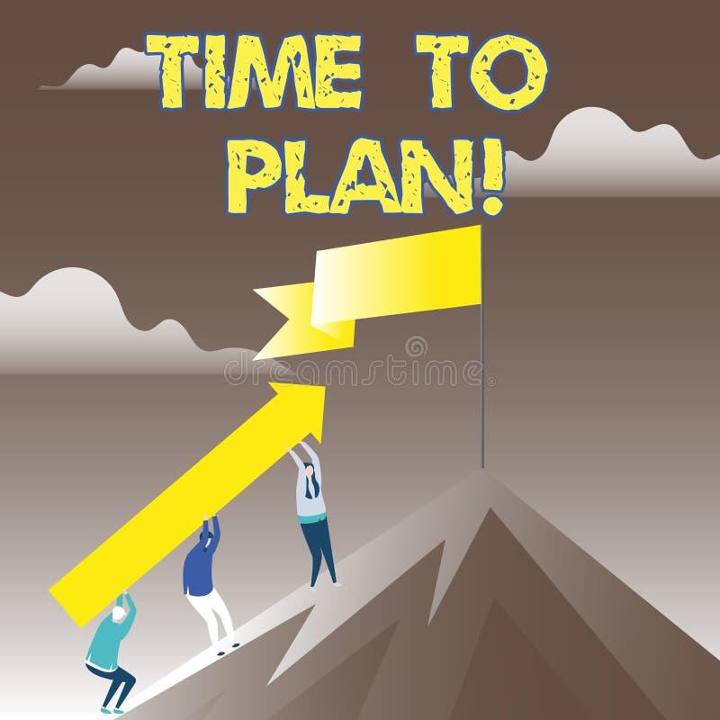 Begriffshandschrift, die Zeit zeigt zu planen Geschäftsfoto Präsentationsvorbereitung von den Sachen, die bereit erhalten, denken lizenzfreie abbildung