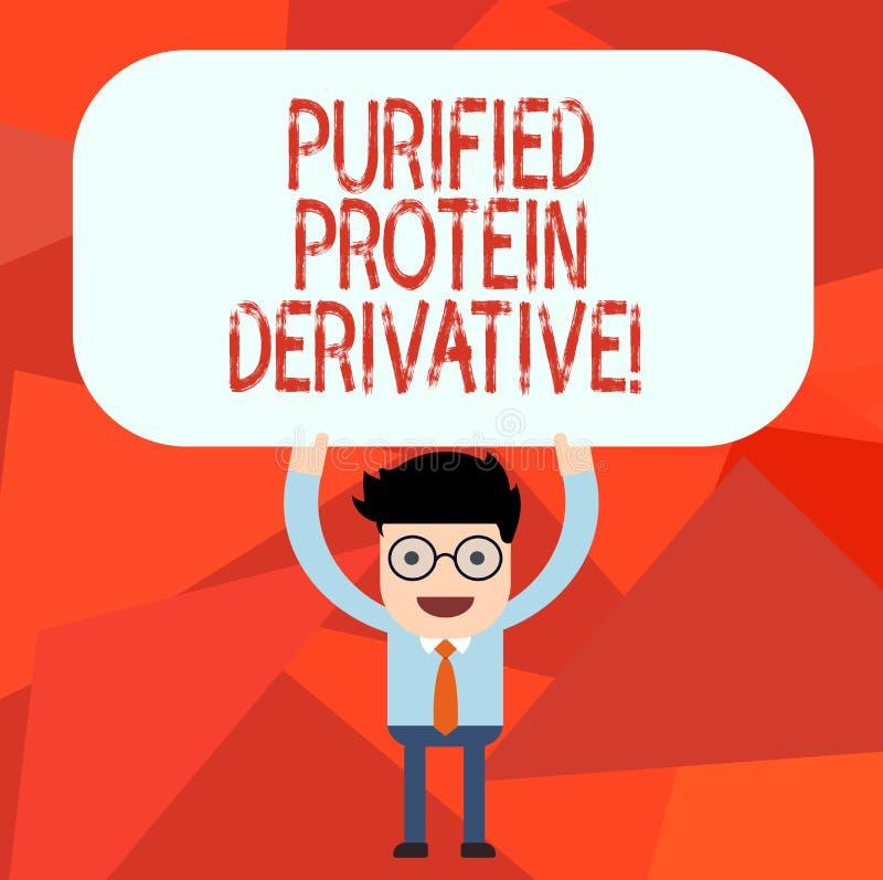 Begriffshandschrift Vertretung gereinigte Protein-Ableitung Geschäftsfototext der Auszug von Mykobakteriumtuberkulose Mann lizenzfreie abbildung