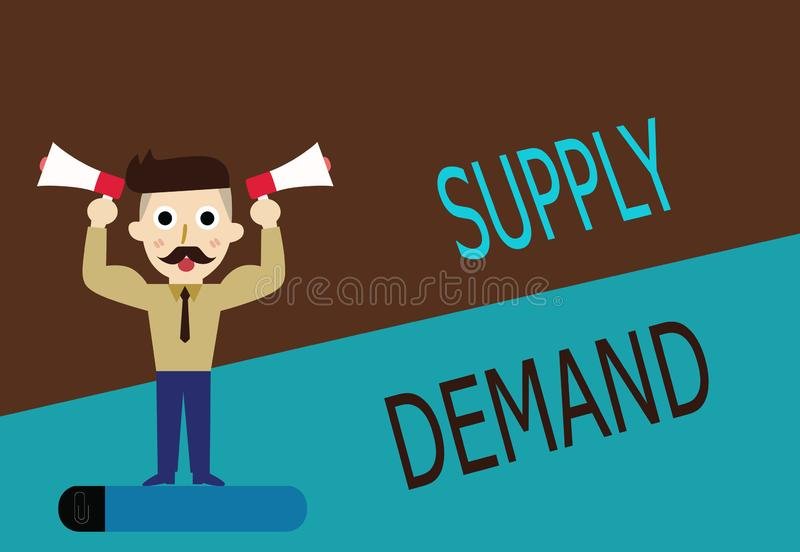 Begriffshandschriftdarstellen Angebot-Nachfrage Geschäftsfototext Verhältnis zwischen den Mengen verfügbar und gewünscht vektor abbildung