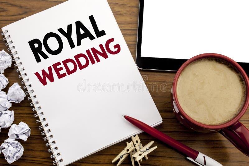 Begriffshandschrifttext-Titelinspiration, die königliche Hochzeit zeigt Geschäftskonzept für Hochzeit Briten England geschrieben  stockbild