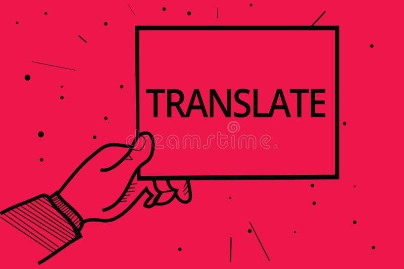 Begriffshandschriftvertretung übersetzen Geschäftsfototext ein anderes Wort mit der gleichen gleichwertigen Bedeutung eines Ziels lizenzfreie abbildung