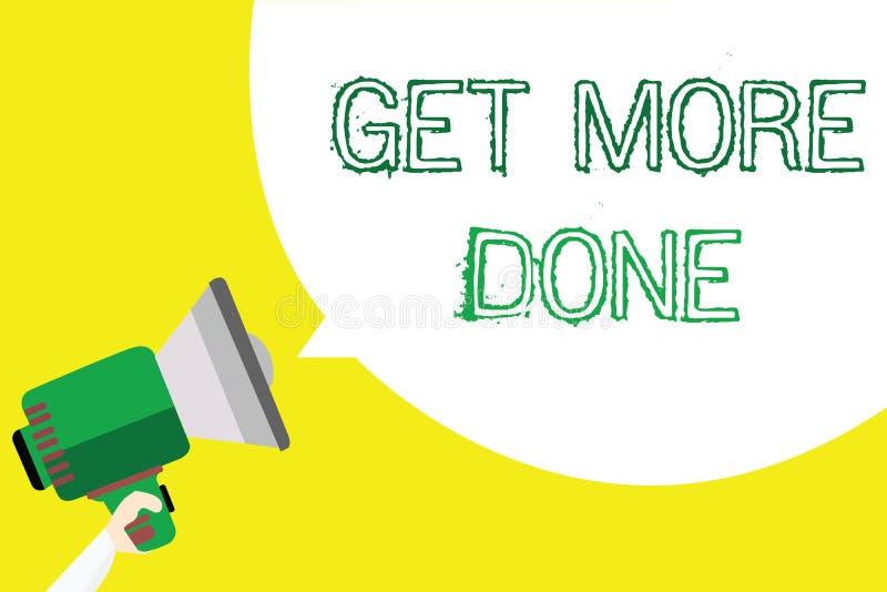 Begriffshandschriftvertretung erhalten getan Geschäftsfototext Checkliste organisierter Zeit-Management-Anfang Hardwork lizenzfreie abbildung