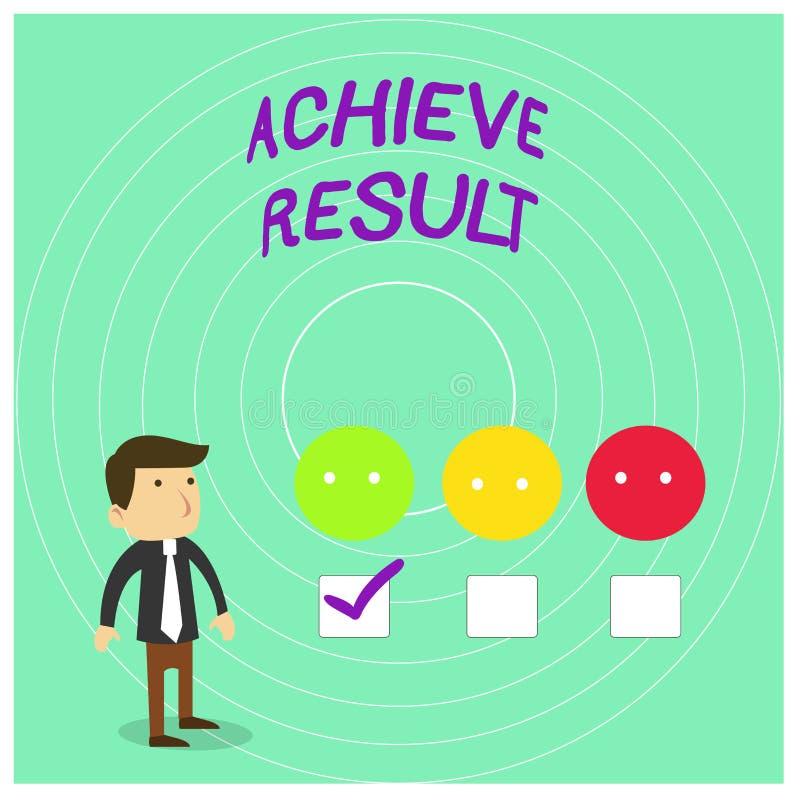 Begriffshandschriftvertretung erzielen Ergebnis Geschäftsfoto Präsentationsdurchführung erreichen holen zu einem erfolgreichen vektor abbildung
