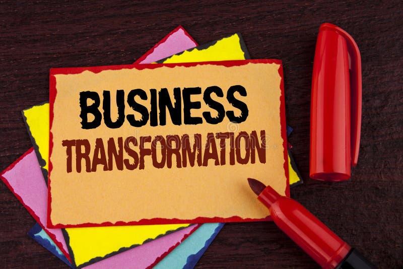 Begriffshandschriftvertretung Geschäfts-Umwandlung Geschäftsfoto Präsentationsherstellung ändert in der Leitung der Firma Upg stockfoto