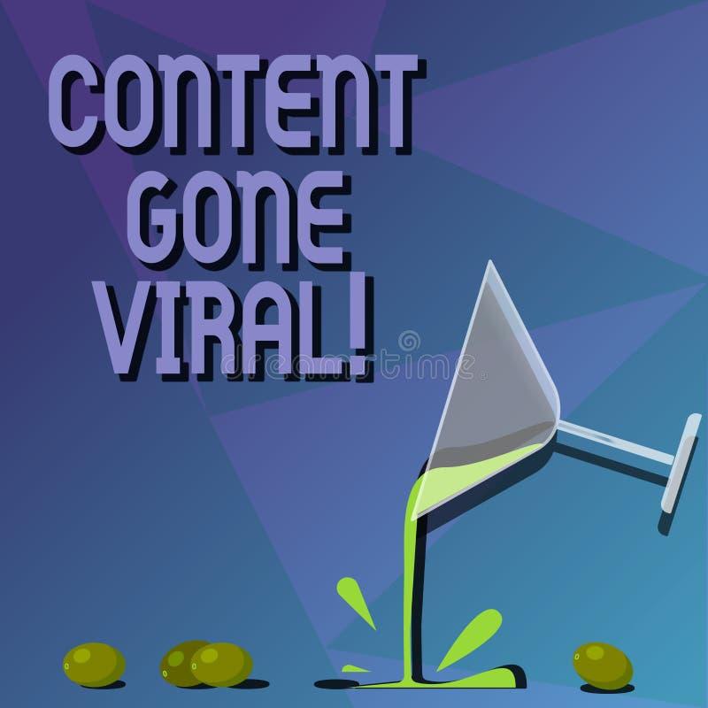Begriffshandschriftvertretung Inhalt Viren gegangen Geschäftsfototext-Bild-Videoverbindung, die schnell durch verbreitet stock abbildung