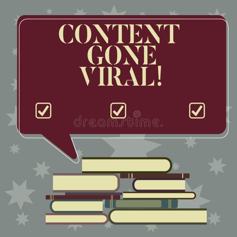 Begriffshandschriftvertretung Inhalt Viren gegangen Präsentationsbildvideoverbindung des Geschäftsfotos, die schnell verbreitet vektor abbildung