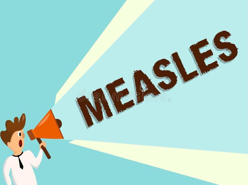 Begriffshandschriftvertretung Masern Geschäftsfoto-Textansteckende Virenkrankheit, die an Fieber und einen roten Hautausschlag ve stock abbildung