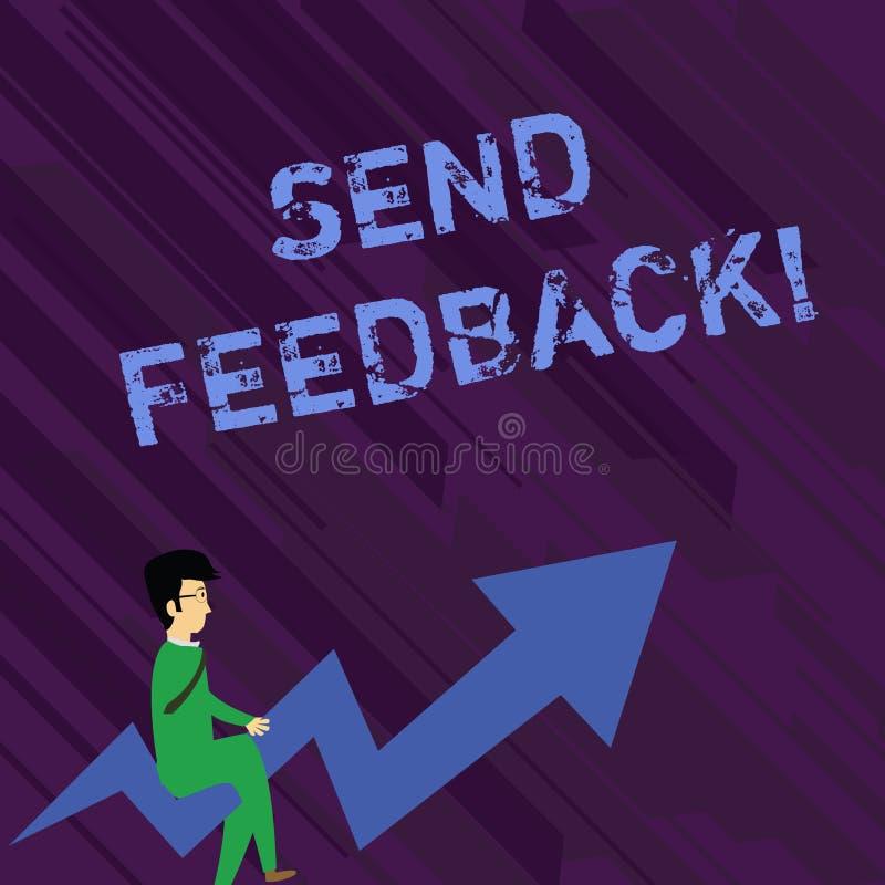Begriffshandschriftvertretung senden Feedback Gesch?ftsfoto-Textinformationen oder Aussagen ?ber Meinung ?ber etwas vektor abbildung